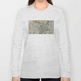 Vintage Map of The Roman Forum (1911) Long Sleeve T-shirt