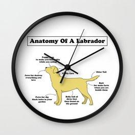Anatomy Of A Labrador Wall Clock