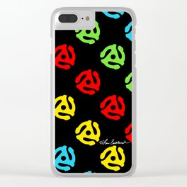 45 Spindle All Over Print Clear iPhone Case