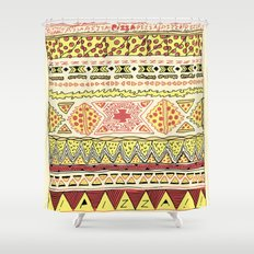 Pizza Pattern Shower Curtain