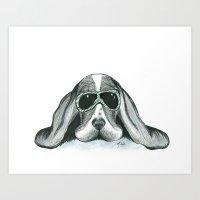My Dog is My Co-Pilot Art Print