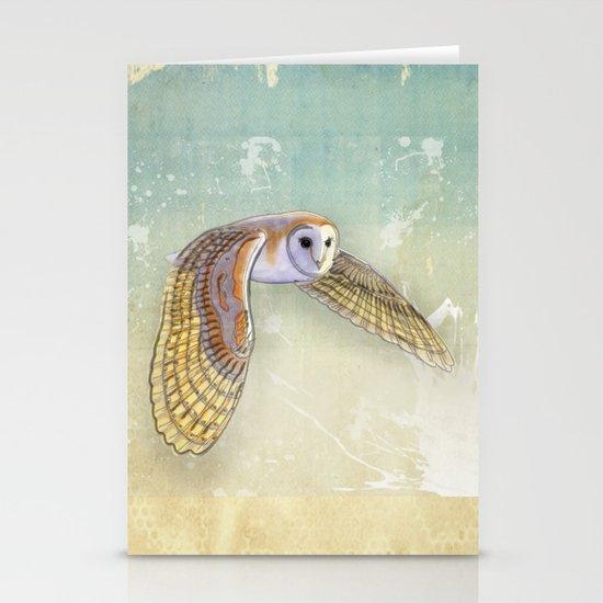 Barn Owl Labyrinth Stationery Cards