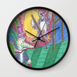 """James Joyce & The """"Hey Diddle Diddle"""" Cow Wall Clock"""
