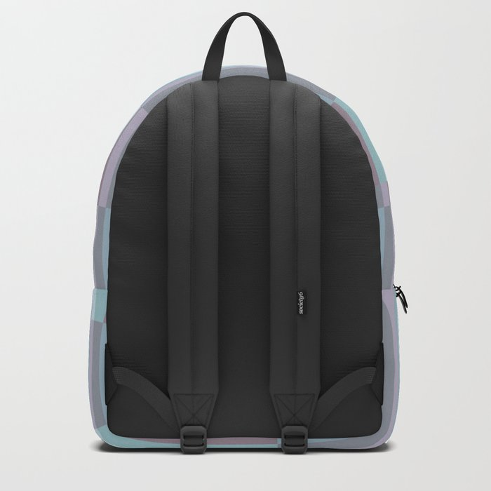 PLUM TURQUOISE STRIPES MINIMALIST Backpack