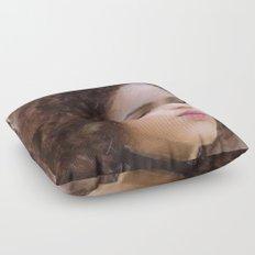 Portrait of Nathalie Emmanuel Floor Pillow