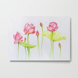 Porcelain lotuses Metal Print