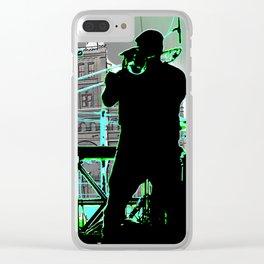Big Sam (Trombone Man) Clear iPhone Case