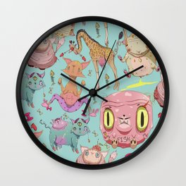 Misfit Animals Wall Clock