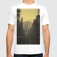 Yosemite Falls Tin Yellow Mens Fitted Tee White MEDIUM