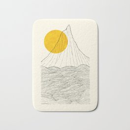 The tall cliff by the sea Bath Mat