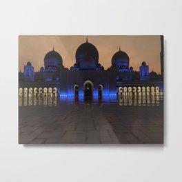 Sheike Zayed Grand Mosque Metal Print