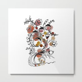 flowers and fruits watercolor  ( https://society6.com/totalflora/collection Metal Print