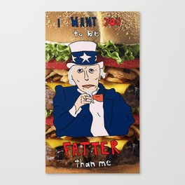"Uncle Sam Says ""Eat!"" Canvas Print"