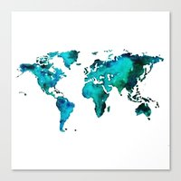 maps Canvas Prints featuring maps by StraySheep