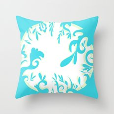 Abstractly Blue  Throw Pillow