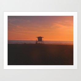 LIFEGUARD TOWER II Art Print