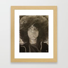 Erykah Badu in Charcoal Framed Art Print