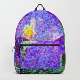 Purple Crocus Mosaic Backpack