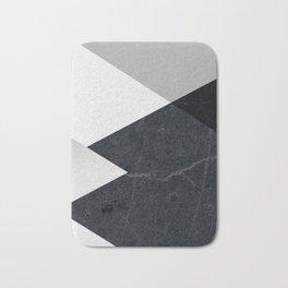 Geometrics - marble & silver Bath Mat