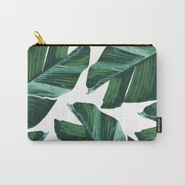 Tropical Banana Leaves Vibes #4 #foliage #decor #art #society6 Carry-All Pouch
