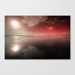 Woolacombe Beach with Red  Canvas Print