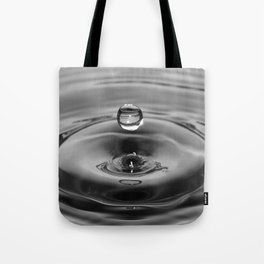 raindrop black and white Tote Bag