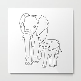 elephant cub Metal Print