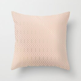 Sophia Chevron: in pink and gold Throw Pillow