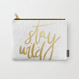 STAY WILD GOLD Carry-All Pouch