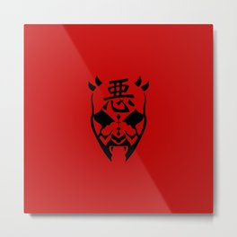Darth Maul - Japanese kanji for 'Evil' Metal Print