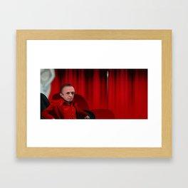 Interior Red room Framed Art Print