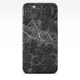 Florence Black Map iPhone Case