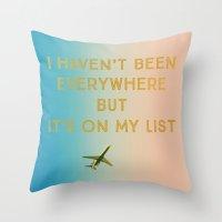 My List Throw Pillow