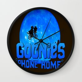 Blue Goonies Phone Home Wall Clock