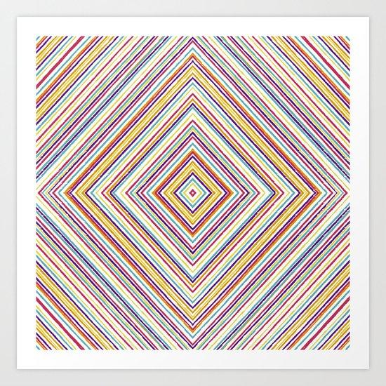 CRAYON STRIPES Art Print