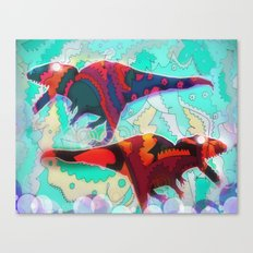 Dinosaur Collaboration Canvas Print