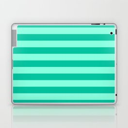 Teal and Aqua Mint Stripes Laptop & iPad Skin