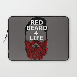 Red Beard for Life Laptop Sleeve