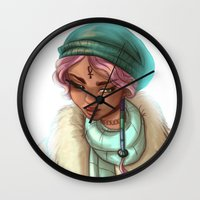 loish Wall Clocks featuring Lolli by Lenore2411