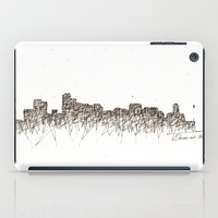 denver iPad Cases featuring Denver Skyline by Nathasa Rae