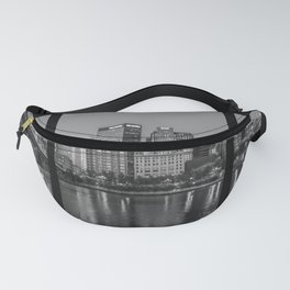 Pittsburgh City Night Triptych Print Fanny Pack
