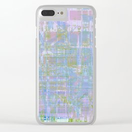 Paint the wall with many colors and shapes Clear iPhone Case