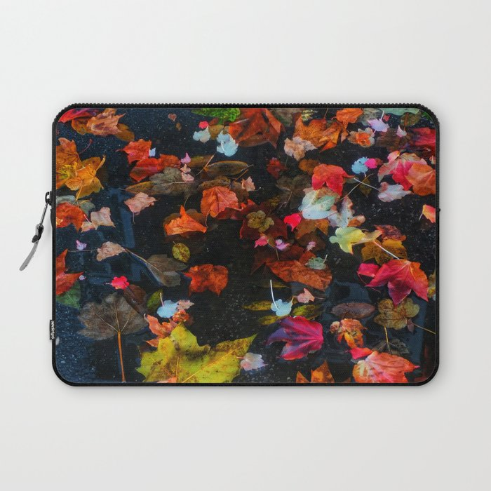 Leaves and Puddle Laptop Sleeve