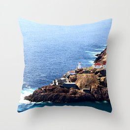 Newfoundland Canadian National Historical Site Fort Amherst and WWII bunkers Throw Pillow