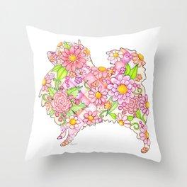 Pink Pomeranian Throw Pillow