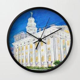 Nauvoo Illinois LDS Temple Wall Clock