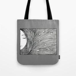 Separated grey Tote Bag