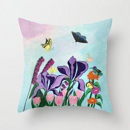 Garden of Heavenly Delight Throw Pillow
