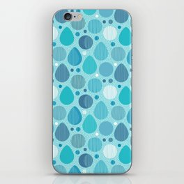 Rain drips, drops and circles iPhone Skin