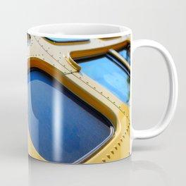VINTAGE - Cool Vintage Passenger Bus - Yellow Coffee Mug